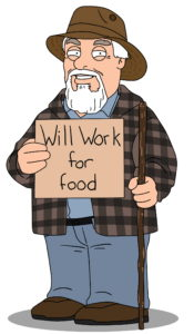 will work for foodL